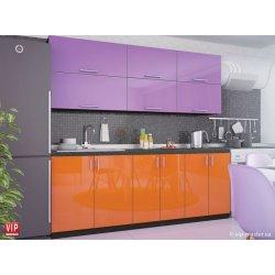Кухня Vip Master Color-mix мдф сиреневый/оранжевый