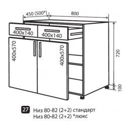 Кухонный модуль VM Color-mix низ 27 800*820*450