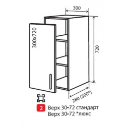 Кухонный модуль VM Альбина верх 2 300*720*280