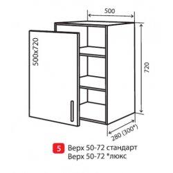Кухонный модуль VM Альбина верх 5 500*720*280