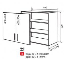 Кухонный модуль VM Maxima верх 8 800*720*280
