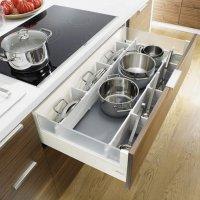 ORGA-LINE избавит Вас от подобных проблем. Лотки из высококачественной стали легко мыть, не повреждая материал, даже в посудомоечной машине.
